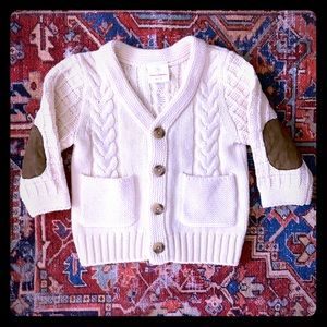 Hanna Andersson Infant Ivory Fisherman's Cardigan